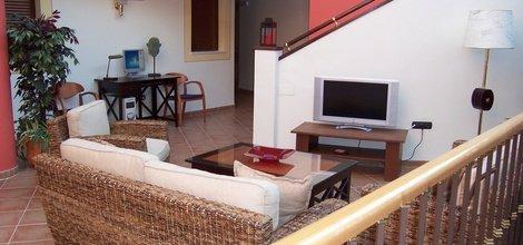 Tv room ele santa bárbara sevilla hotel seville