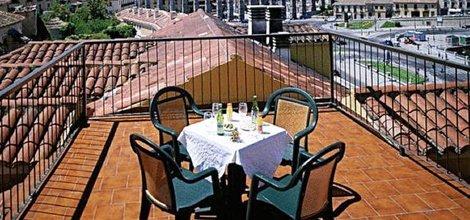 Rooftop terrace ele acueducto hotel segovia