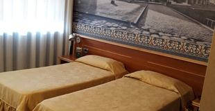 Basic room ele green park hotel pamphili rome, italy