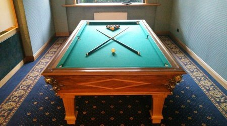 Billiard ele green park hotel pamphili rome, italy