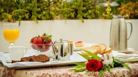 Breakfast with views ATH Al-Medina Wellness Hotel