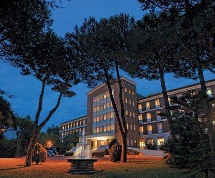 Facade ele green park hotel pamphili rome, italy
