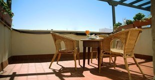 Double room with terrace ele santa bárbara sevilla hotel seville