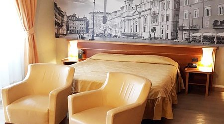 Double deluxe room ele green park hotel pamphili rome, italy