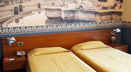 Standard room ele green park hotel pamphili rome, italy